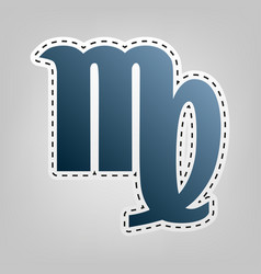 Virgo sign blue icon with vector