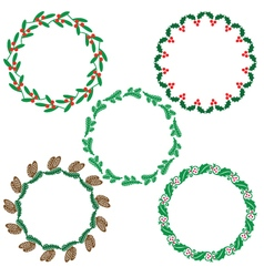Wreath frames vector