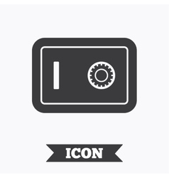Safe sign icon deposit lock symbol vector