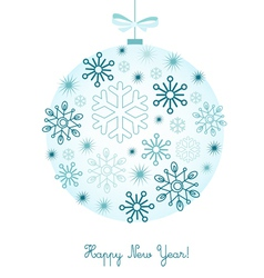 New year background with snowflakes vector