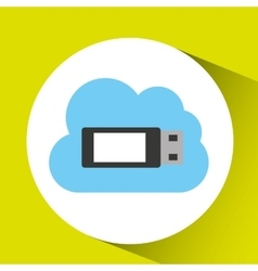 usb cloud technology connection design vector image
