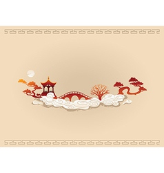 Abstract chinese background vector