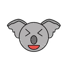 cute koala drawing animal vector image