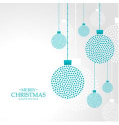 Merry christmas hanging balls decoration vector