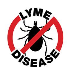 Anti lyme disease tick bite icon vector