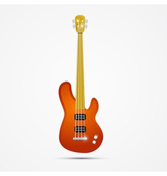 Abstract orange bass guitar isolated on grey vector