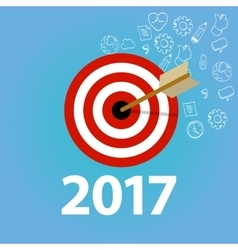 2017 target goals task list check new year vector image