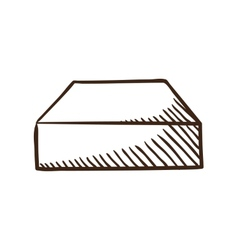 Hard drive symbol vector