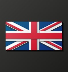 Modern style great britain flag vector