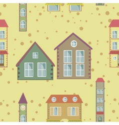 A colorful city seamless pattern vector