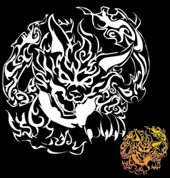 Fox devil tattoo vector