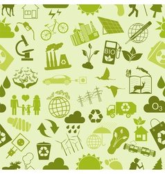 Environment ecology seamless pattern environmental vector
