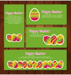 Set of easter cards and banners vector