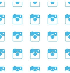 Unique camera seamless pattern vector
