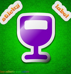 Wine glass alcohol drink icon sign symbol chic vector