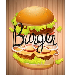 Hamburger with meat and vegetables vector