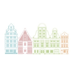 Row of town houses vector