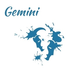 Zodiac sign gemini vector