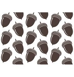 Seamless pattern Acorn vector image