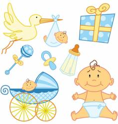 baby cards vector image