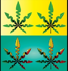 Cannabis marijuana hemp leaf symbol vector