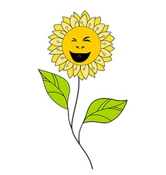 Beautiful smiling flower floral design element vector