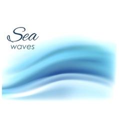 Beautiful blue background of stylized waves vector image