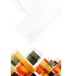 Arrows and triangles background vector
