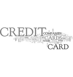 A card for those who have poor credit text word vector