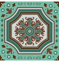 A colorful portuguese azulejo tile vector