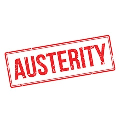 Austerity rubber stamp vector