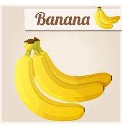 Banana detailed icon vector
