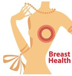 breast health vector image