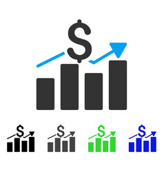 Business chart flat icon vector