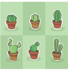 Cactus set of logo vector