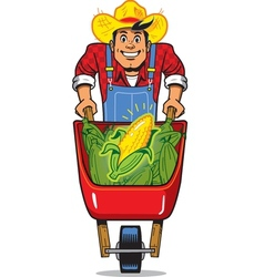 Corn farmer vector