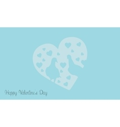 Dove and love backgrouds valentine card vector