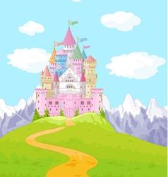 Fairy Tale Castle Landscape vector image vector image