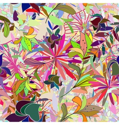 floral seamless color vector image vector image