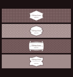 geometric patterns and vintage frame banners vector image vector image