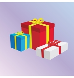 Gift Boxes Presents vector image vector image