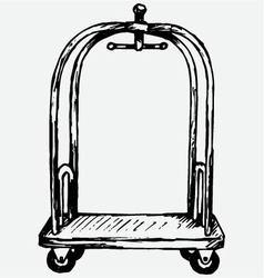 Hotel trolley vector image vector image