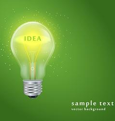 ligt bulb vector image