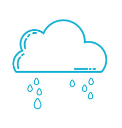 line cute cloud with raining and cold weather vector image vector image