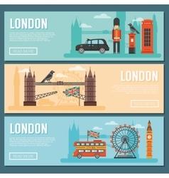 London Banner Set vector image vector image