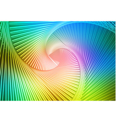 Pink green blue glowing spiral background vector