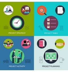 Project management set vector