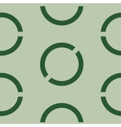 Seamless geometric green background vector image vector image