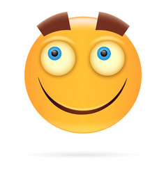 Smiley character design icon style happy face vector