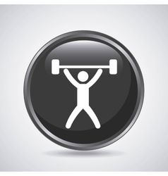 Weight lifting icon sport design graphic vector